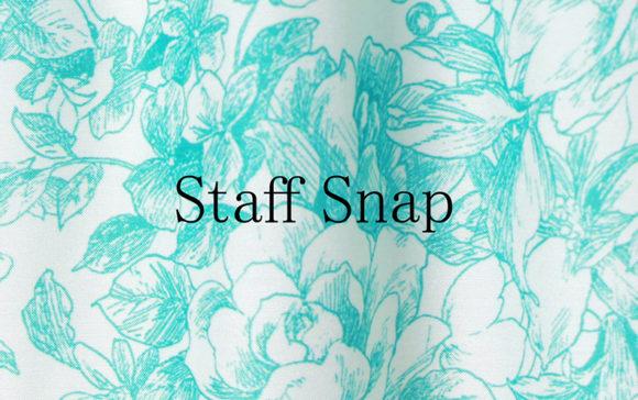 【Staff snap】線画プリントワンピース